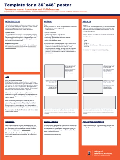 36x48 Research Poster Vertical Template