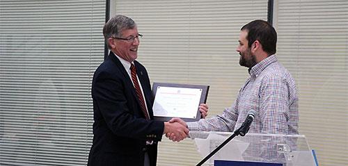 Dean Herb Whiteley with Dr. Matt Allender