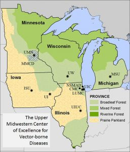 The Upper Midwestern Center Of Excellence In Vector Borne Diseases Which Is Headquartered At The University Of Wisconsin Madison Was Established Through A