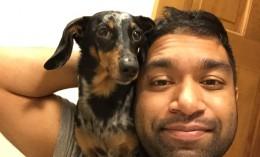 Shim Ahmed and his dog