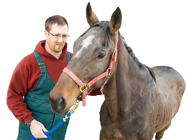 [male student with horse]