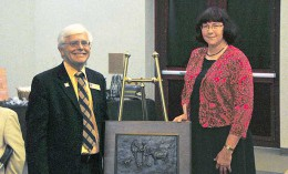 Missouri veterinary dean Neil Olson and Dr. Karen Campbell
