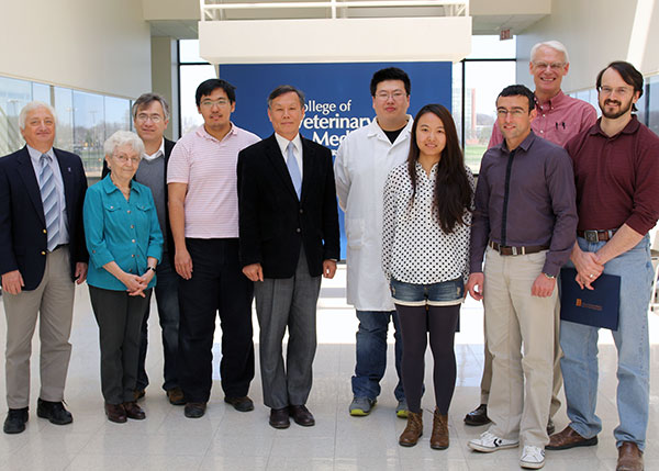 [Graduate student award winners and faculty members from Pathobiology]