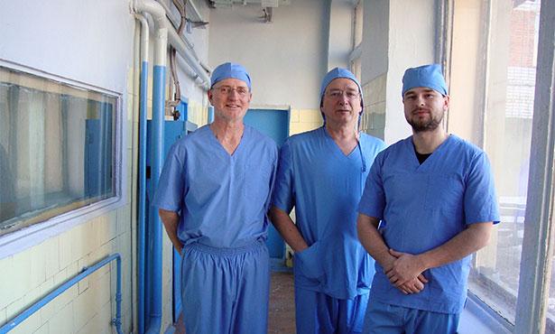 [Three vaccine researchers in Russia]