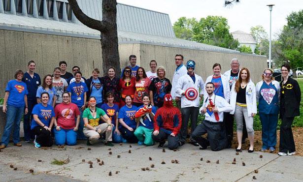 [The Veterinary Teaching Hospital celebrates 2015 superhero day]