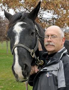 [Scott Austin with horse]
