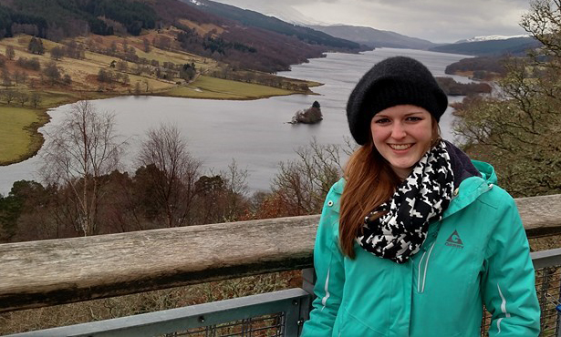 Meaghan MacQueen poses for a photo while studying abroad in Ireland
