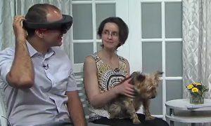 [Viktor Gruev and Laura Selmic on TV]