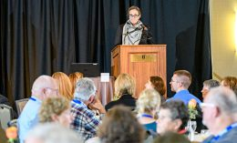 [Dr. Lynne White-Shim presents alumni awards 2017]