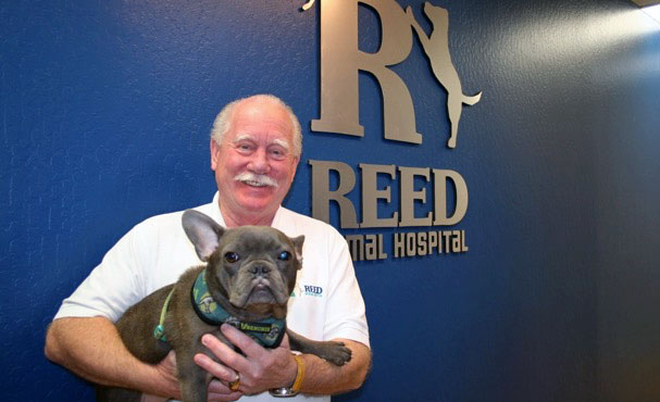 [Dr. David Reed in his veterinary hospital]