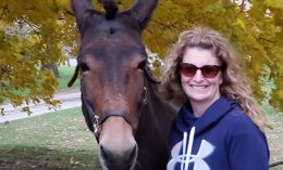 Sara Roy poses with a horse
