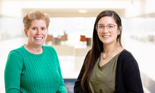 [Dr. Jodi Flaws and graduate student Katie Chiang]