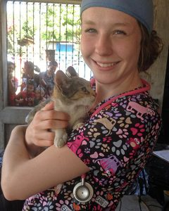 'Brittany Kleszynski and cat]