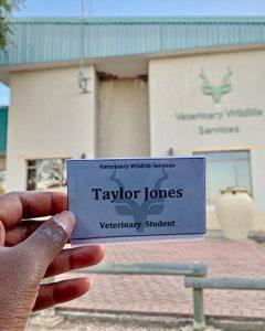 [Taylor's ID card at Kruger National Park]