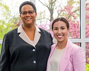 [Dr. Yvette Johnson-Walker and Ilia Medina]