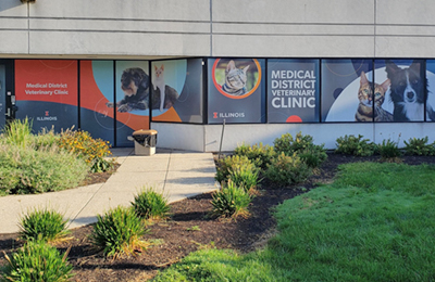 entrance to Medical District Veterinary Clinic