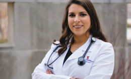 [Dr. Anita Kalonaros at the White Coat Ceremony]