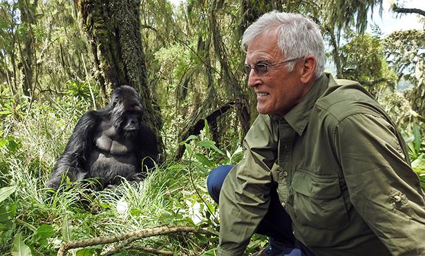 [David Kieltyka in Uganda gorilla sanctuary]