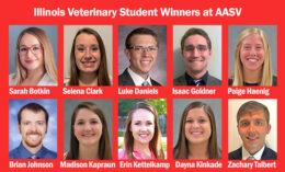 [headshots of 10 student winners from swine meeting]