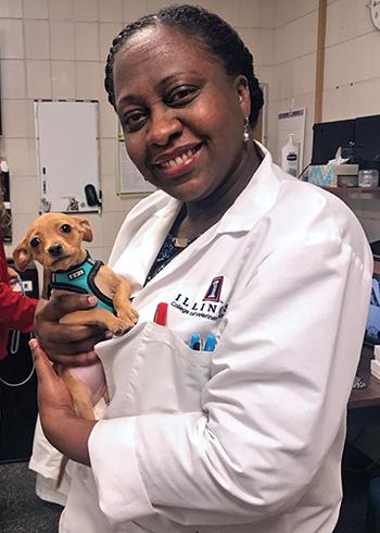 Dr. Tisha Harper with dog