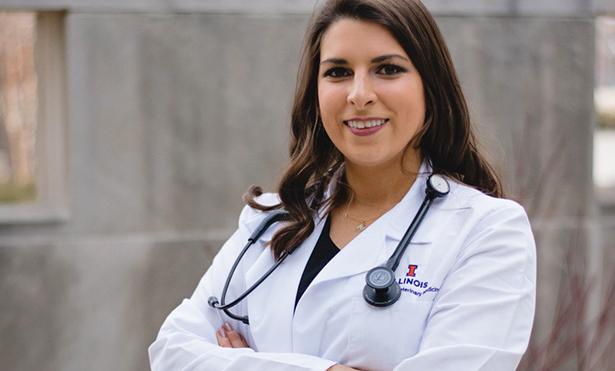 [Dr. Anita Kalonaros at the White Coat Ceremony]