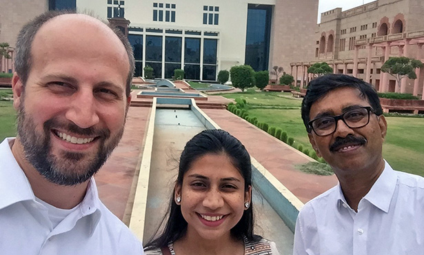 [Dr. Will Sander, Sulagna Chakraborty, and a collaborator from India]