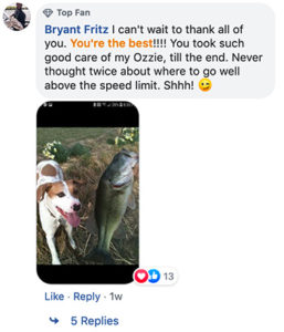 [Facebook post from Fritz]