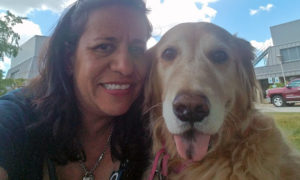 [Karen and Sophie at the Veterinary Teaching Hospital]