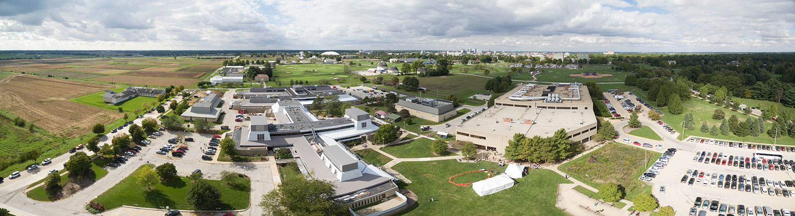 aerial view of veterinary campus 2016