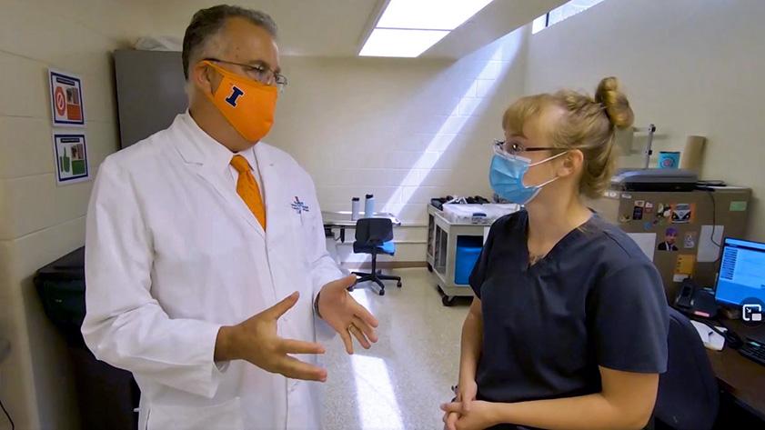 Dean Constable and dermatology technician Miriah L.